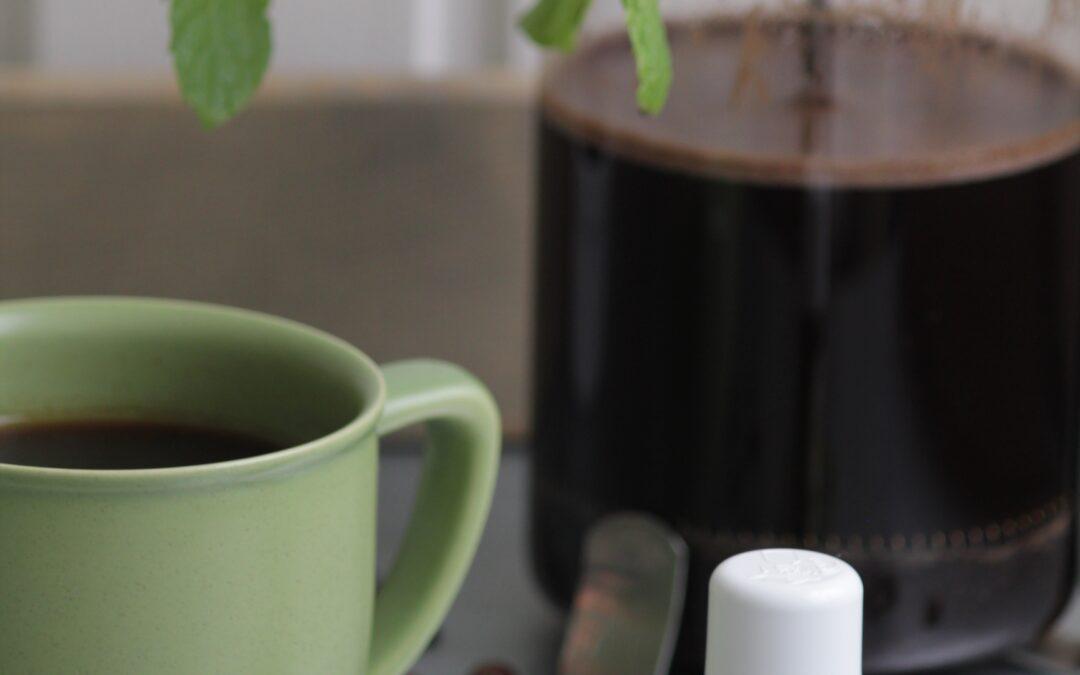 Kaffe med smak av pepparmint