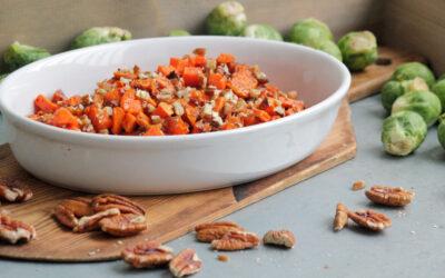 Sötpotatisröra med kanel och pekannötter