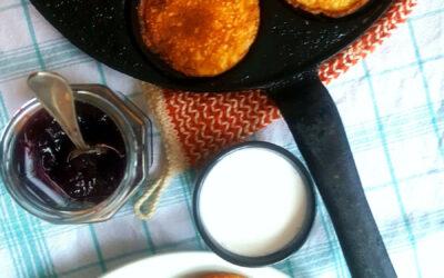 Plättar på butternutsquash och ägg