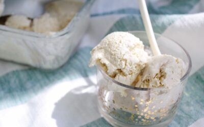 Krämig vaniljglass