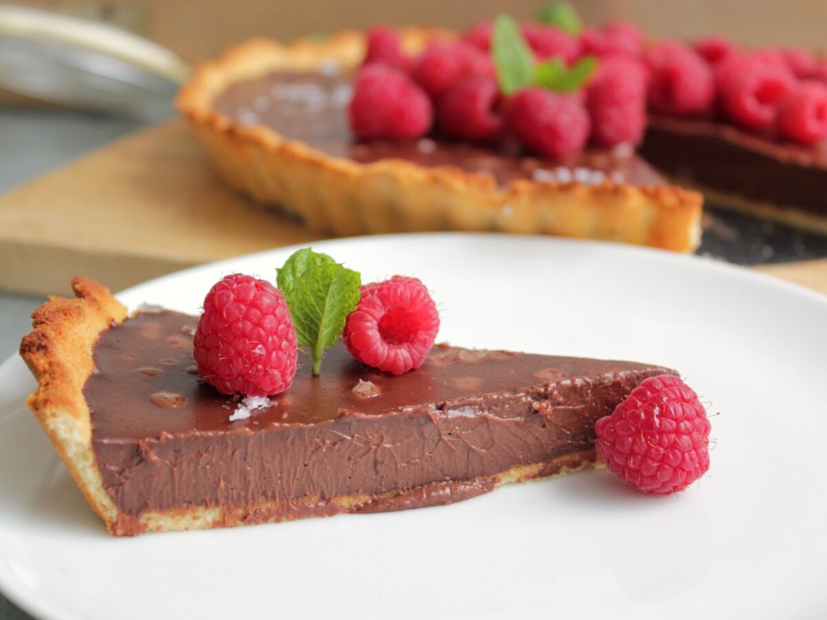 choklad-paj-med-hallon