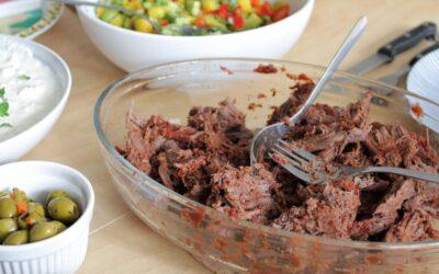 Pulled beef med rökig grillsås