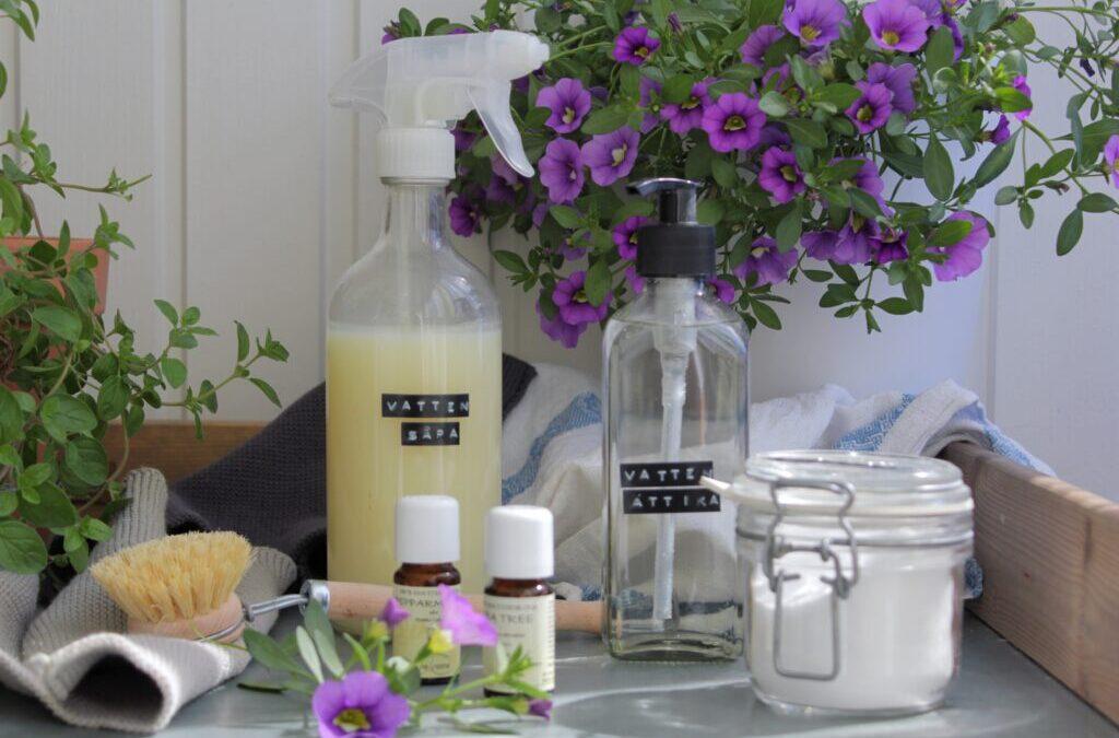 Städa med naturliga produkter