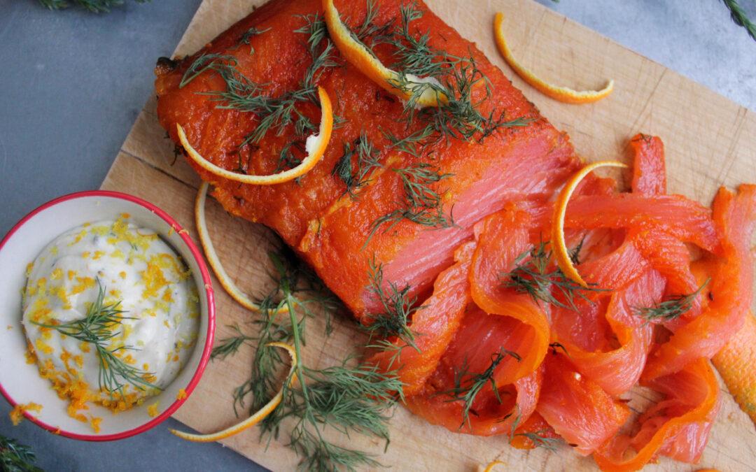 Gravad lax med saffran och apelsin