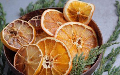 Torkade citrusskivor