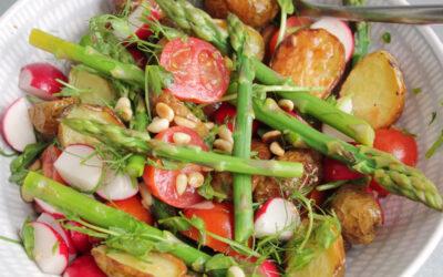 Rostad potatissallad med primörer