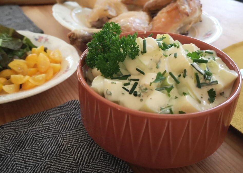 Krämig zucchinisallad