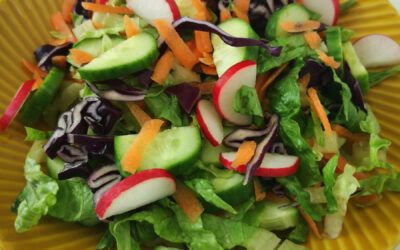 Färgglad sallad med krisp